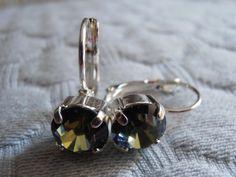 Swarovski crystal Sahara silver tone by ParisiJewelryDesigns, $14.99