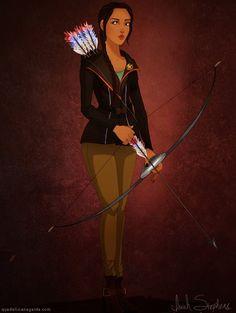 Pocachontas as Katniss by Isaiah Stephens