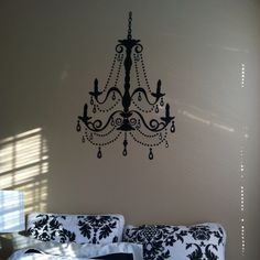 Chandelier decal vinyl chandelier wall decal decorations silhouette chandelier decal luxurious aloadofball Choice Image