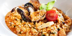 An elaborate dish, which contains all the flavor of the sea is fisherman's risotto. A recipe that might take a little time, but is definitely worth it!