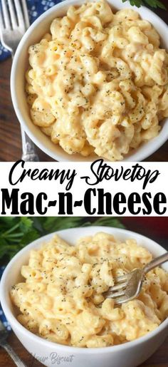 Stovetop macaroni and cheese is cheesy, creamy and comes together in 20 minutes. Skip the bow and make the real stuff next time! Creamy stovetop macaroni and cheese is a classic, and perfect any night of the week. Macaroni Cheese Recipes, Pasta Recipes, Cooking Recipes, Healthy Recipes, Steak Recipes, Baked Macaroni, Mac Cheese, Seafood Recipes, Easy Weeknight Meals