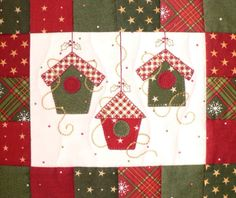 1000 ideas about patchwork navidad on Small Quilts, Mini Quilts, Mug Rug Patterns, Quilt Patterns, Christmas Sewing, Christmas Crafts, Christmas Placemats, Xmas, Fabric Postcards