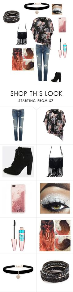 """""""street style"""" by musizislife ❤ liked on Polyvore featuring rag & bone/JEAN, M&Co, WithChic, Maybelline, Betsey Johnson and Chan Luu"""