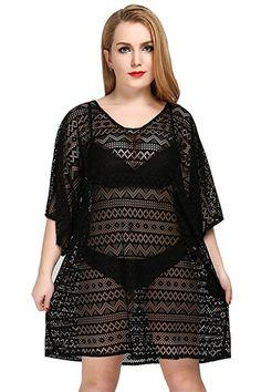e4c4803195 Women's Beach Cover Up Sexy Lace Swimsuit Beachwear Dress Bikini Swimwear  Crochet Tunic at Amazon Women's Clothing store: