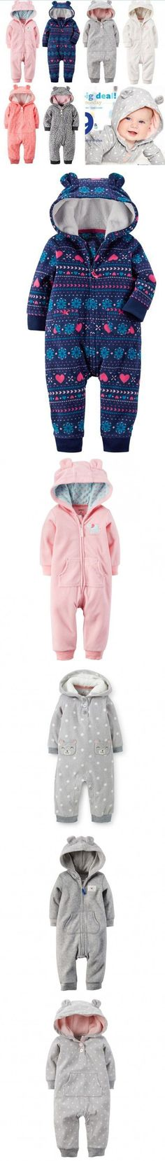 2015 New brands Baby Girl Boy Winter Clothes Thickening Baby Rompers Polar Fleece Newborn Winter Coverall Hooded Baby Clothing #BabyClothing