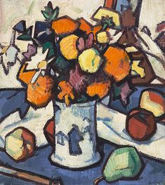 Flowers and Fruit by Samuel John Peploe