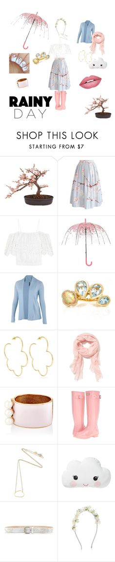 """Always rainy in Tokyo..."" by skullzr4ever ❤ liked on Polyvore featuring Nearly Natural, Chicwish, Ganni, ibex, Brent Neale, Simone Rocha, Old Navy, Maison Mayle, Hunter and Estella Bartlett"