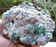 636g ADAMITE ON ARAGONITE MIXED SPECIMEN LAVRIO MINES HELLAS KK15  greek minerals , minerlas from greece ,
