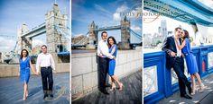 Love in London: Tower Bridge Engagement Photoshoot