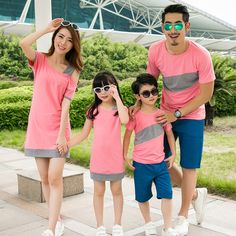2016 summer mother daughter dresses family matching clothes children short sleeve T-shirt baby romper mother and son clothes Mother Daughter Matching Outfits, Mommy And Me Outfits, Couple Outfits, Matching Family Outfits, Kids Outfits, Summer Outfits, Matching Clothes, Couple Clothes, Clothes 2019