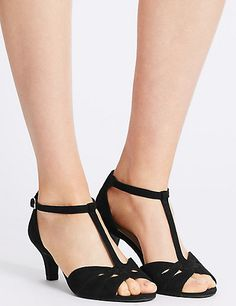 Wide Fit Suede Stiletto Sandals