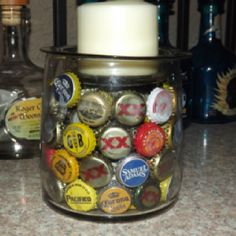 Another use for beer bottle caps.
