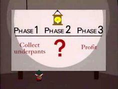 Underpants Gnomes #southpark #businessplans  #cashflow