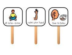 Behavior management sticks!  Also info on teaching kids about voice volume levels