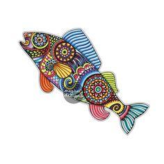 Fish Sticker Colorful Design Bumper Sticker by MeganJDesigns