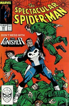 Spectacular Spider-Man (1976 1st Series) 141 Marvel Comics Peter Parker Comic book covers Super Heroes Villians Amazing Astonishing silver bronze modern age The Punisher