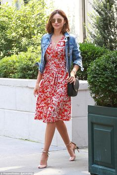 Summer vibes: Miranda Kerr looked flawless as she stepped out in New York on Thursday