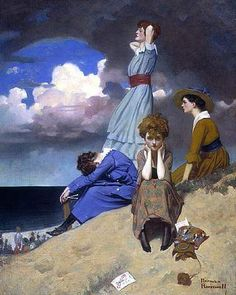 """""""Till the Boys Come Home"""" by Norman Rockwell, 1918"""