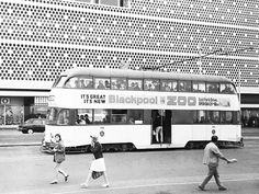 Tram passing Lewis's - large department store in Blackpool Blackpool England, Light Rail, Department Store, Old Pictures, Great Places, Seaside, United Kingdom, Past, History