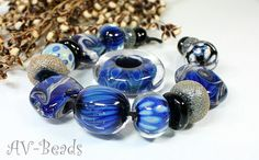 AVBeads handmade Lampwork Set SRA by AVBeads on Etsy,