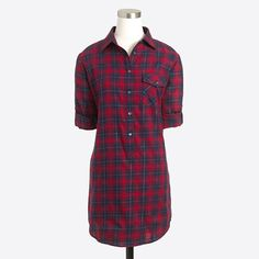 <ul><li>Cotton/Lurex® metallic threads.</li><li>Long sleeves.</li><li>Hits at midthigh.</li><li>Chest pocket.</li><li>Machine wash.</li><li>Import.</li></ul>