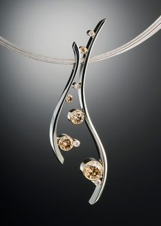Champagne Bubbles Diamond Pendant - https://adamneeley.com/?post_type=product&p=254