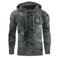 Retro Mens outdoor sports fitness hooded sweater - blaroken.com Hooded Sweater, Men Sweater, New Casual Fashion, Fashion Outfits, Sport Fashion, Mens Fashion, Tactical Jacket, Retro, Sport Fitness