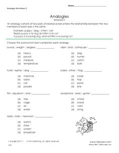 Printables Analogy Worksheets 8th Grade worksheets on pinterest analogies worksheet 2