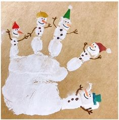 ideas for art painting for kids diy Christmas Crafts To Make, Christmas Activities, Holiday Crafts, Art Projects For Adults, Easy Art Projects, Diy For Kids, Crafts For Kids, Footprint Art, Handprint Art