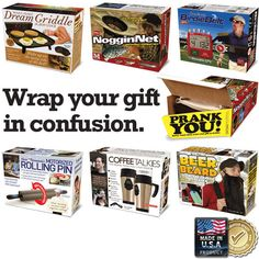 Love this!  Prank gift boxes to hold the real gift inside!