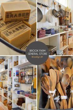Brook Farm General Store : 75 S 6th Street Brooklyn, NY 11249.    www.brookfarmgeneralstore.com
