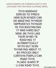 Only certain people can read this...