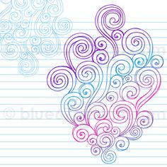 Hand-Drawn Sketchy Notebook Doodle Abstract Swirls Vector Illustration by blue67 by blue67design, via Flickr