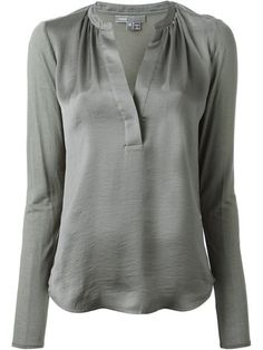 Elegant Shop Vince slit neck blouse in Nolte from the world us best independent boutiques at farfetch
