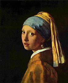 """Vermeer """"girl with pearl earring"""