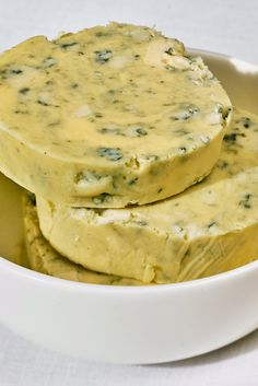 "NYT Cooking: Blue butter – obviously fat on fat – is blue cheese for people who think they don't like blue cheese: The butter tames the sharpness, and the cheese makes the butter lively and intense. Serve this sauce alongside a <a href=""http://cooking.nytimes.com/recipes/1017618-blowout-rib-eye"">grilled rib-eye</a> for a contemporary take on a classic steakhouse cut."