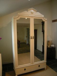Beau Antique French Style Armoire Wardrobe