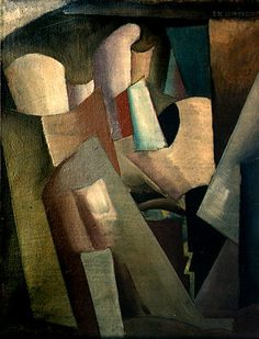 T.DE LEMPICKA.  Abstract Composition, circa1926, Oil on canvas, 35 x 27 cm (13 3/4 x 10 5/8 in)