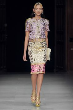 Manish Arora Spring 2013. Inspired by India. Exotic Metallic Printed Separates.