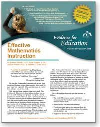 NICHCY Effective Mathematics Instruction - strategies and teaching tips for teaching math to students with disabilities.