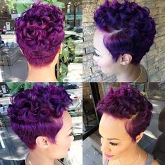 Hairstyles and Beauty: The Internet`s best hairstyles, fashion and makeup pics are here. Natural Hair Short Cuts, Tapered Natural Hair, Short Sassy Hair, Short Hair Cuts, Natural Hair Styles, Short Relaxed Hairstyles, Curly Pixie Hairstyles, Curly Hair Styles, Pixie Styles
