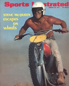ad423fde899 Steve McQueen romping on his Husqvarna 400 Cross –Sports Illustrated