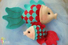 Peixinho de feltro | ArcoIris | Elo7