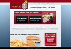 Another website homepage, the design is based on a burger fast food restaurant, you'like?.