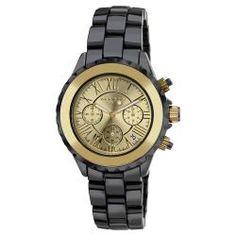 Akribos XXIV Men's Ceramic Gold-tone Chronograph Watch
