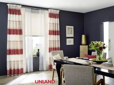 Unland Madina, Fensterideen, Vorhang, Gardinen und Sonnenschutz - curtains, contract fabrics, pleated blinds, roller blinds and more. Made in Germany