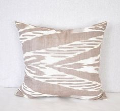 Ikat pillow covers- Organic Cotton 100%. $10.00, via Etsy.