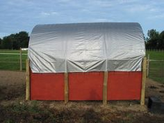 Horse RunIn Shed Shelter Barn build for under $300