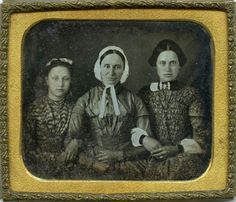 Sixth Plate Daguerreotype Three Ladies | eBay: