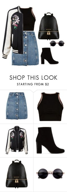 A fashion look from June 2017 featuring cropped shirts, lightweight jackets and blue skirts. Browse and shop related looks. Fashion Beauty, Fashion Looks, Lightweight Jacket, Crop Shirt, Minimalism, Yves Saint Laurent, Topshop, Outfit Ideas, Construction